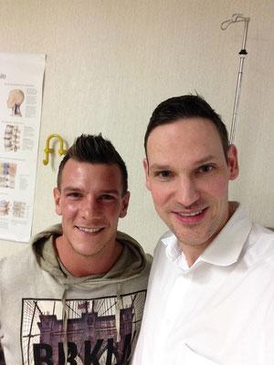 Dr. Hopp mit Denis Epstein, damals FSV-Frankfurt