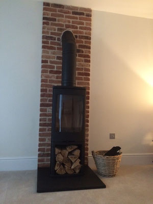 Slate Fireplace Lining Panels