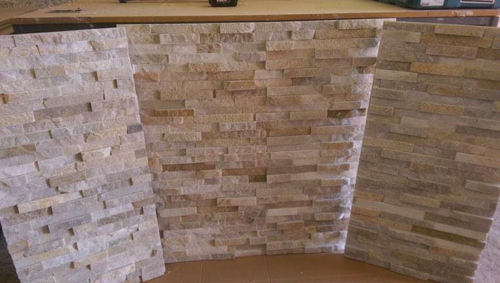 Split faced Oyster slate fireplace chamber_pre-install