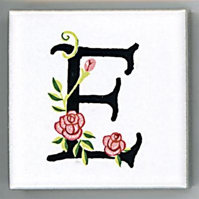 Shinzi Katoh シンジカトウ アルファベット タイル ローズ Rose E