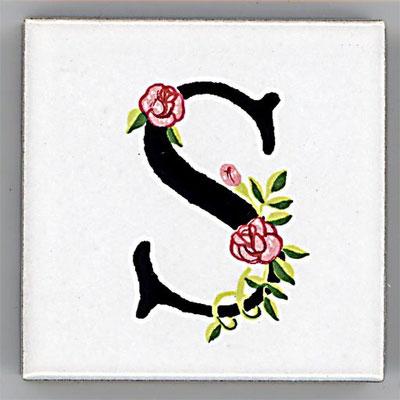 Shinzi Katoh シンジカトウ アルファベット タイル ローズ Rose S
