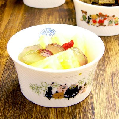Shinzi katoh シンジカトウ かわいいねこのイラスト 陶器のカップ ココット デザートカップ UN-202C