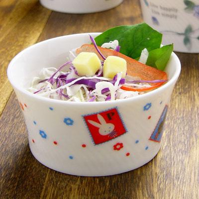 Shinzi katoh シンジカトウ かわいいウサギのイラスト 陶器のカップ ココット デザートカップ MP-202 モンペルシェ
