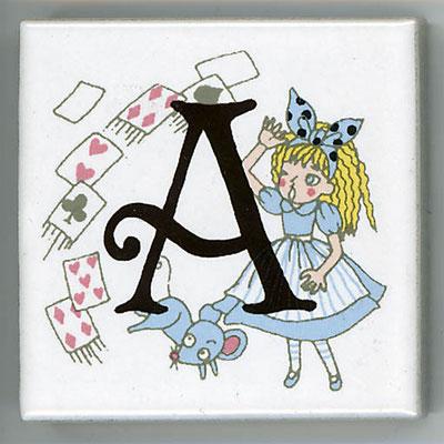 Shinzi Katoh シンジカトウ かわいい アルファベット タイル アリス Alice A