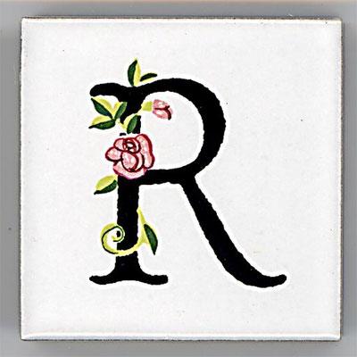 Shinzi Katoh シンジカトウ アルファベット タイル ローズ Rose R