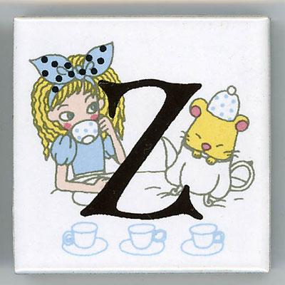 Shinzi Katoh シンジカトウ かわいい アルファベット タイル アリス Alice Z