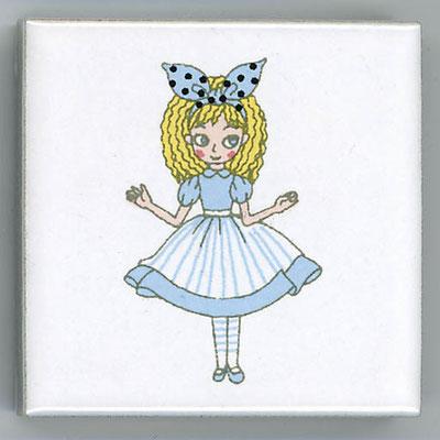Shinzi Katoh シンジカトウ かわいい アルファベット タイル アリス Alice かわいいイラスト