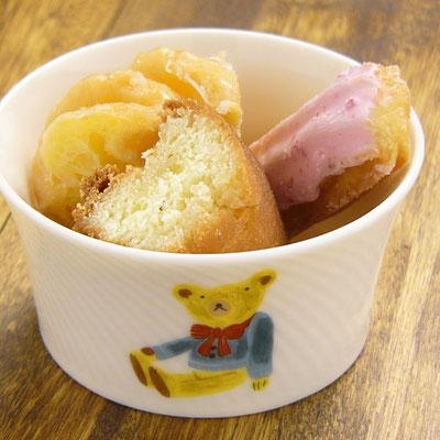 Shinzi katoh シンジカトウ かわいいくまのイラスト 陶器のカップ ココット デザートカップ DO-202
