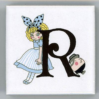 Shinzi Katoh シンジカトウ かわいい アルファベット タイル アリス Alice R