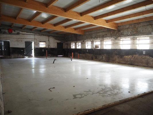 Zwischenstand der Bauarbeiten: Der neue Boden ist gegossen
