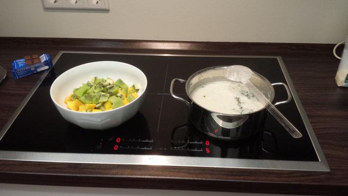 Auf diesem Bild kann man den Kokosnussreis sehen, eine vegane Zubereitungsart die sehr lecker ist.