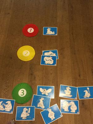 Wie auch beim letzten Seminar gab es das Spiel wo man auf den Karten den Ansteckungsgrad von HIV Viren in Kategorien zu ordnen sollte.  Rot = risikoreich, Gelb = weniger risikoreich  Grün = ungefährlich