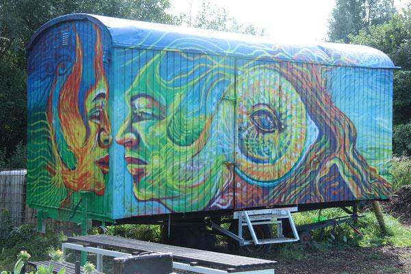 Bauwagen Graffiti Neubeckum 2017