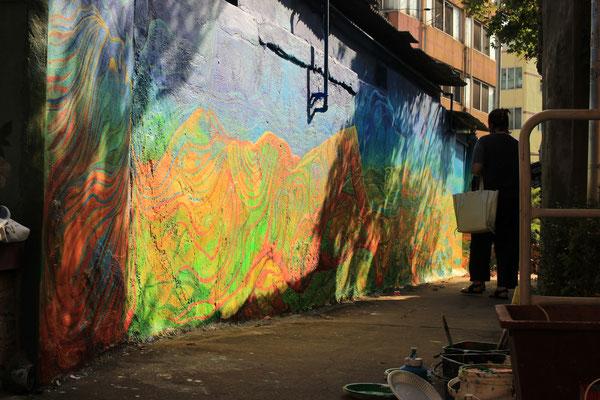 "Haenggungdong project ""mural village art conservation"" 2018"