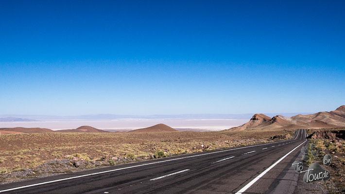 Das riesige Salzbecken von San Pedro de Atacama
