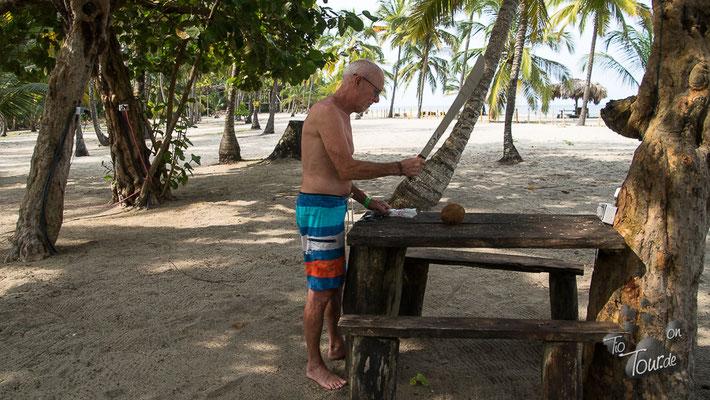Camping Casa Grande - wie öffne ich eine Kokosnuss???