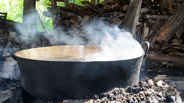 Kochen der Cocada