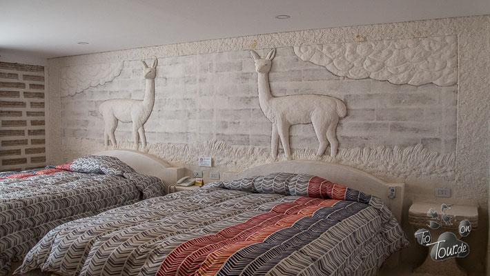 Salzhotel - Zimmer mit Kingsize-Betten und Heizdecke