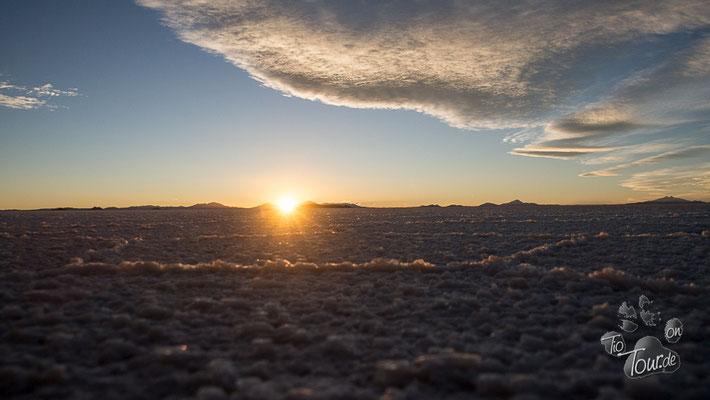 Salar de Uyuni - Sonnenuntergang