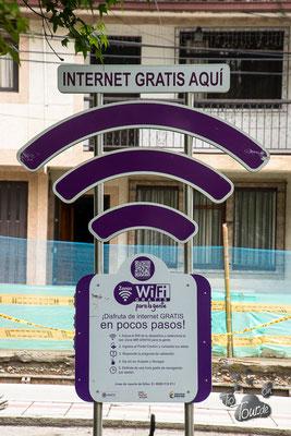 freies Wifi in Popayan - und vielen anderen Städten Kolumbiens