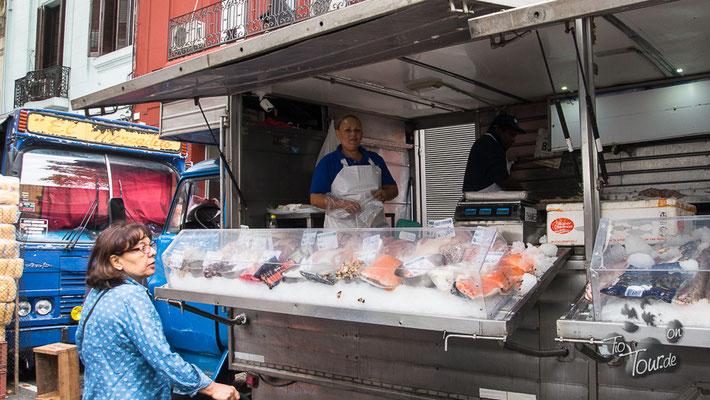 Stadtrundgang - frischer Fisch, immer wieder lecker