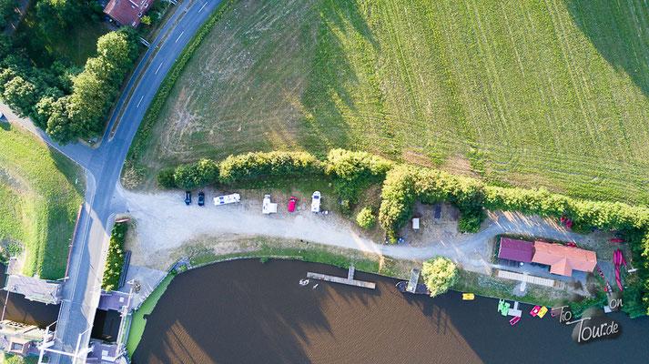 Norder Tief -Drohnenansicht