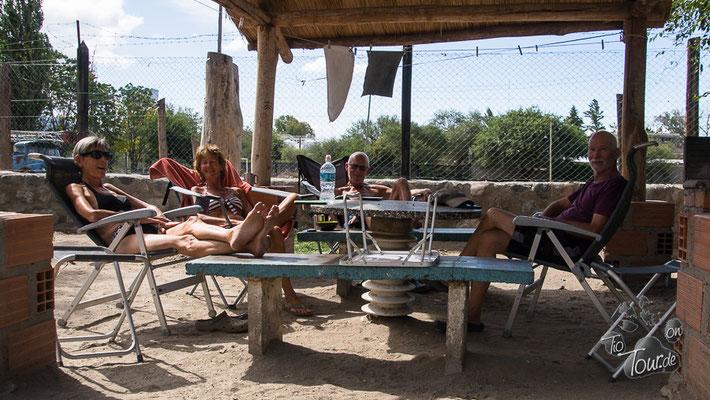 Cafayate - Wiedersehen mit Liz und Leo auf dem Camping Municipal in Salta