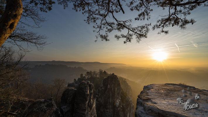 Sonnenaufgang auf der Bastei