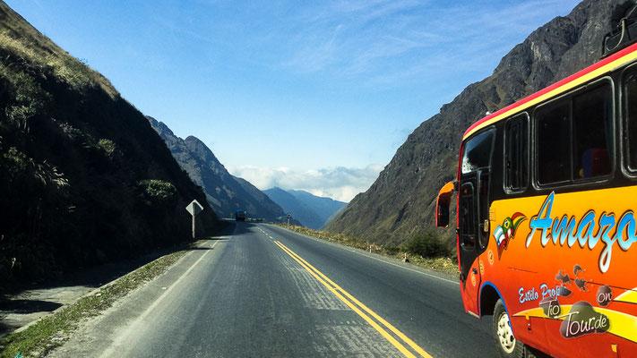 Auf dem Weg nach Coroico