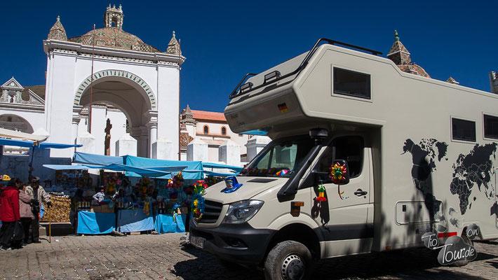 Fahrzeugweihe in Copacabana