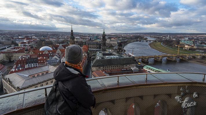 Dresden - Frauenkirche, Blick über die Stadt