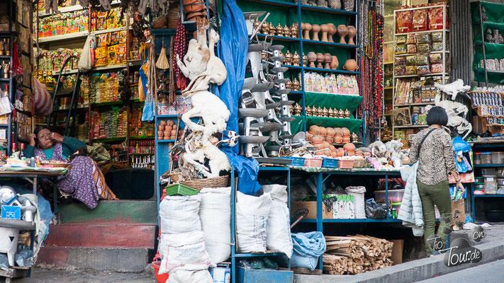 La Paz - Auswahl für die Schamanen in der Hexengasse
