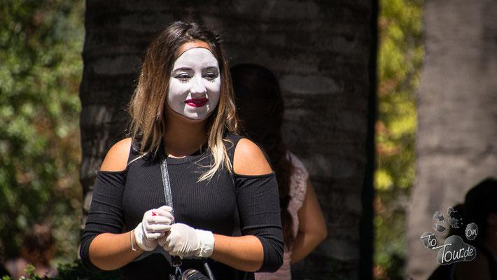 Santiago de Chile - Pantomime auf der Plaza de Armas