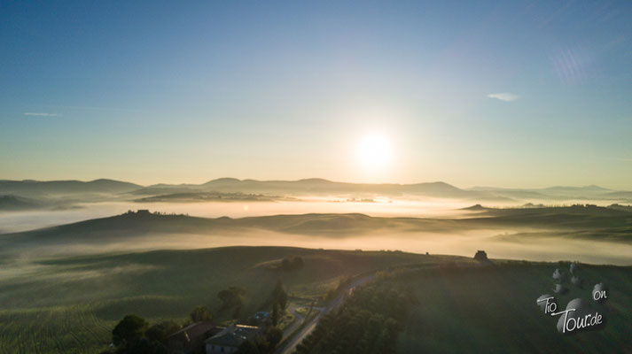 Baccoleno im Morgennebel