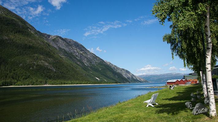 Mosjøen - Blick auf den Fjord