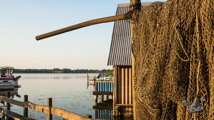 Fischereihof - Blick auf Bootsschuppen und Hafen
