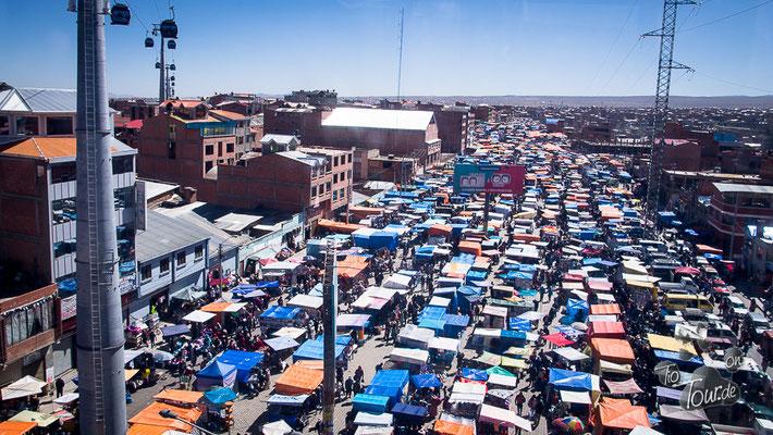La Paz - der Markt in El Alto im Überblick
