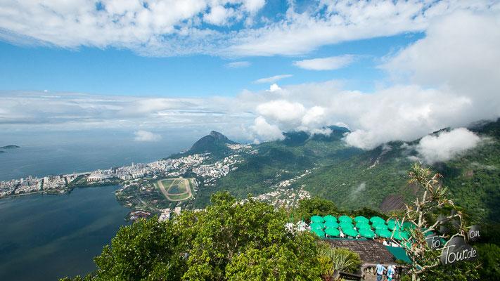 Blick vom Corcovado - Nebel... mas o menos :-)
