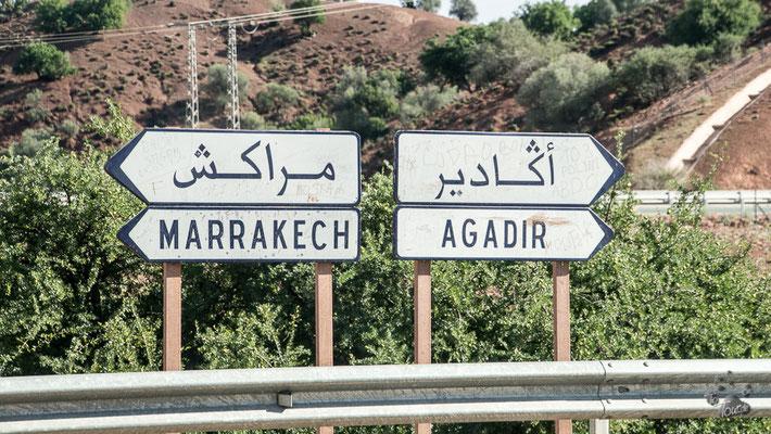 Auf dem Weg nach Marrakech