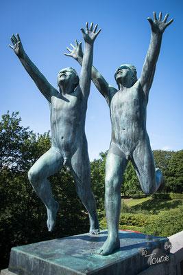 Vigeland-Skulpturen im Frognerpark Oslo
