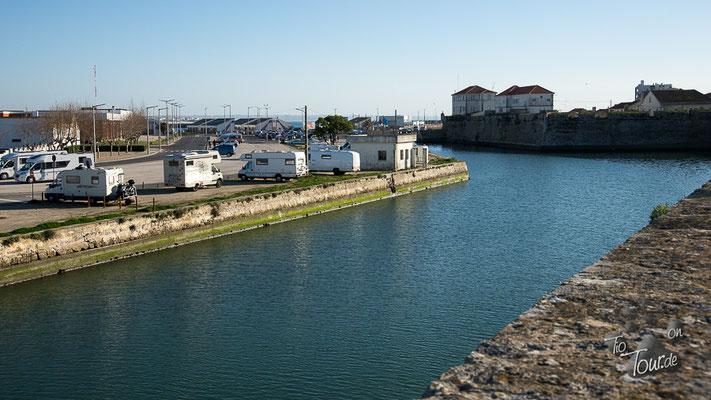 Peniche - unser Stellplatz am Hafen