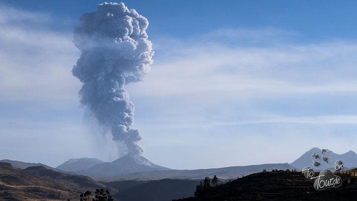 Blick auf den Vulkan Sabancaya