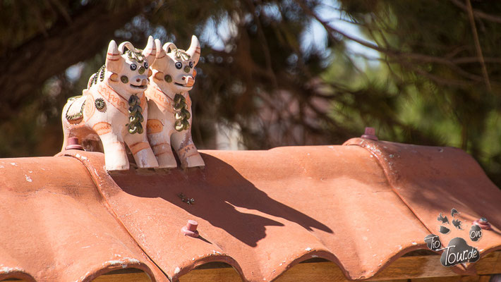 Glücksbringer auf dem Dach