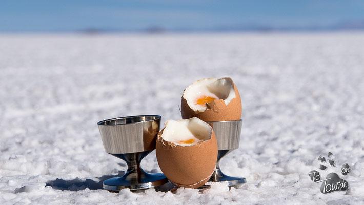 Salar de Uyuni - wer braucht da den Salzstreuer ??