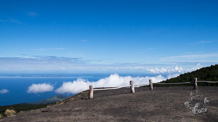 Vulkan Osorno- Aussicht auf den Lago Llanquihue
