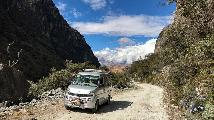 mit dem Taxi zur Laguna Parón