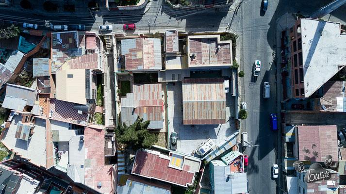 Stellplatz in der Werkstatt von Ernesto Hut - Drohnenansicht