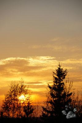 Sonnenuntergang über Falun