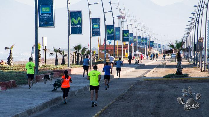 La Serena - Frühsport am Strand