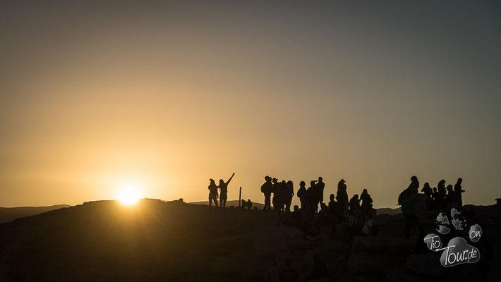 Valle de la Luna - Sunset, der große Treffpunkt am Mirador Coyote